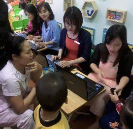 Buổi Scan vân tay MIỄN PHÍ tại trường Mầm non Tuổi Thơ